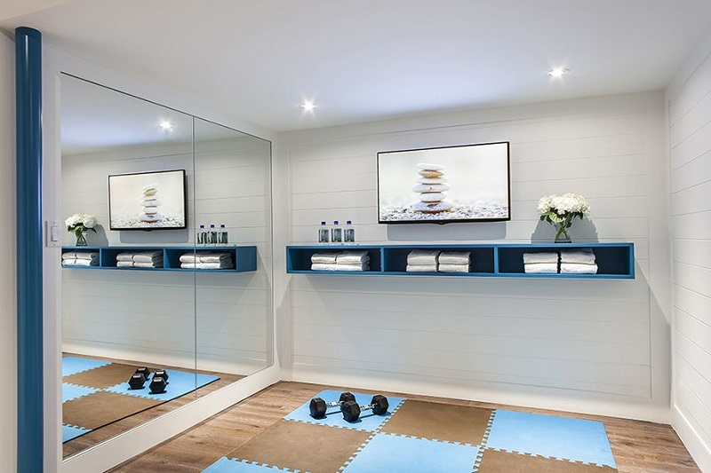White Workout Room