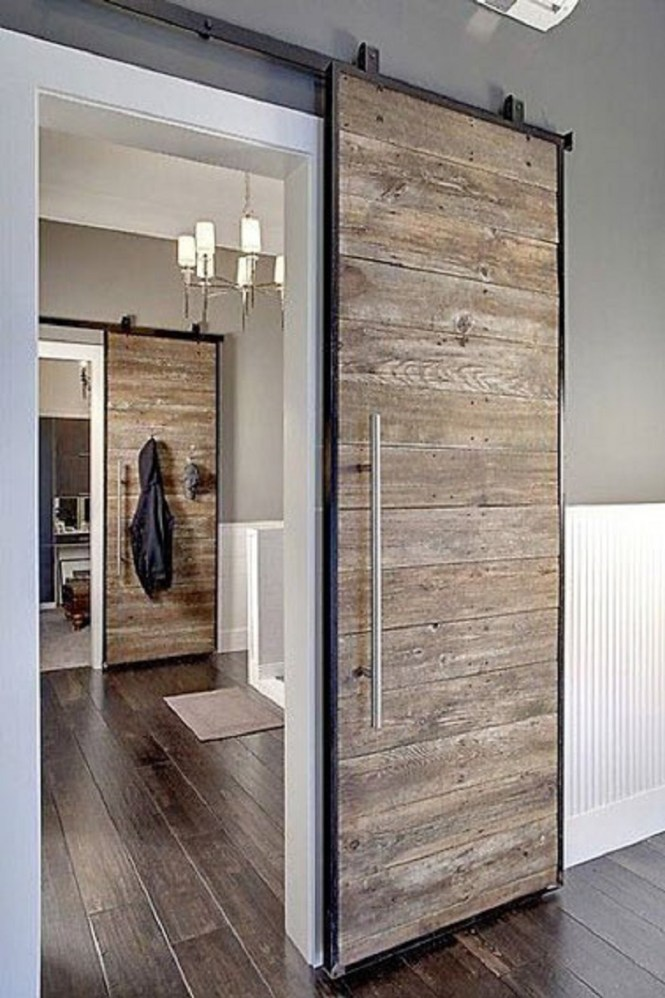 Rustic Bedroom Barn Door