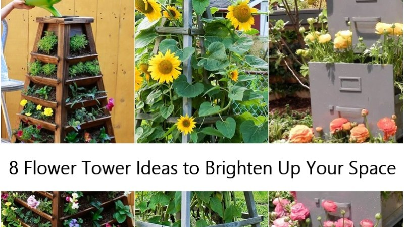 8 Flower Tower Ideas to Brighten Up Your Space