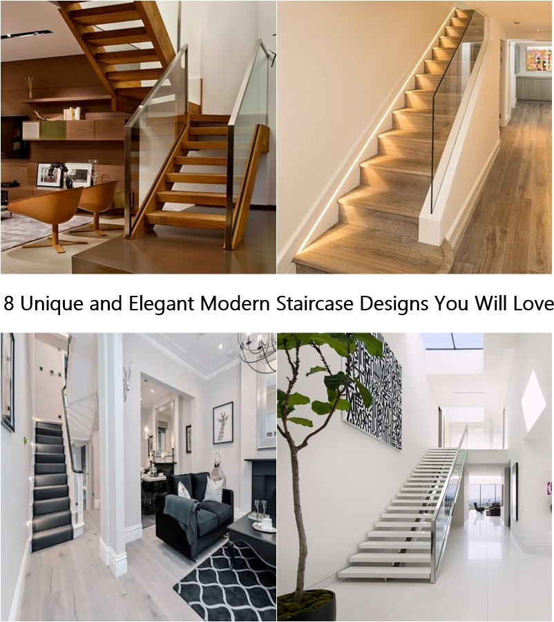 8 Unique and Elegant Modern Staircase Designs You Will Love