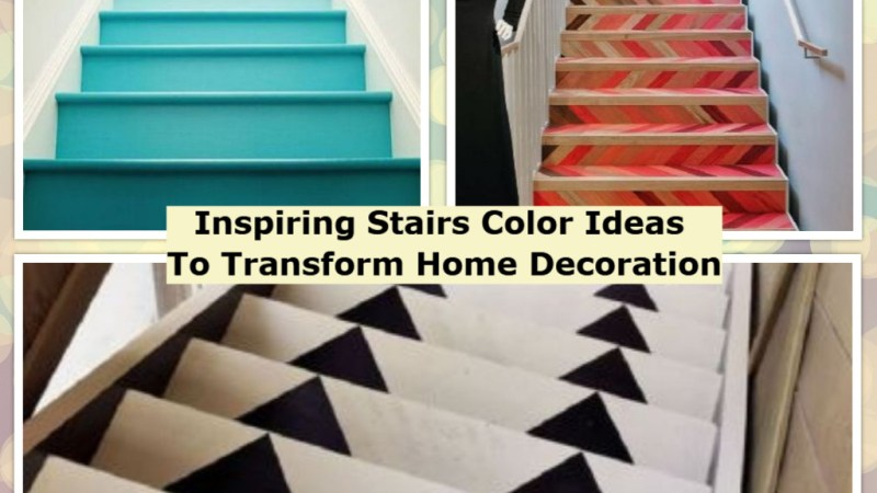 Inspiring Stairs Color Ideas To Transform Home Decoration