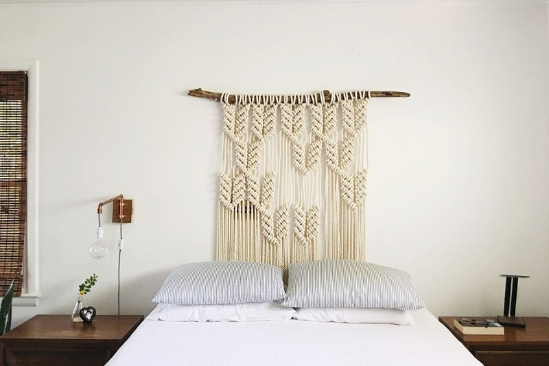 Macramé Headboard DIY