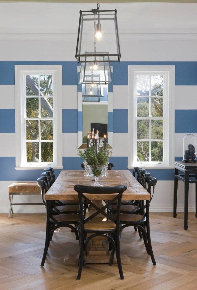 Dining Room Wall Striped