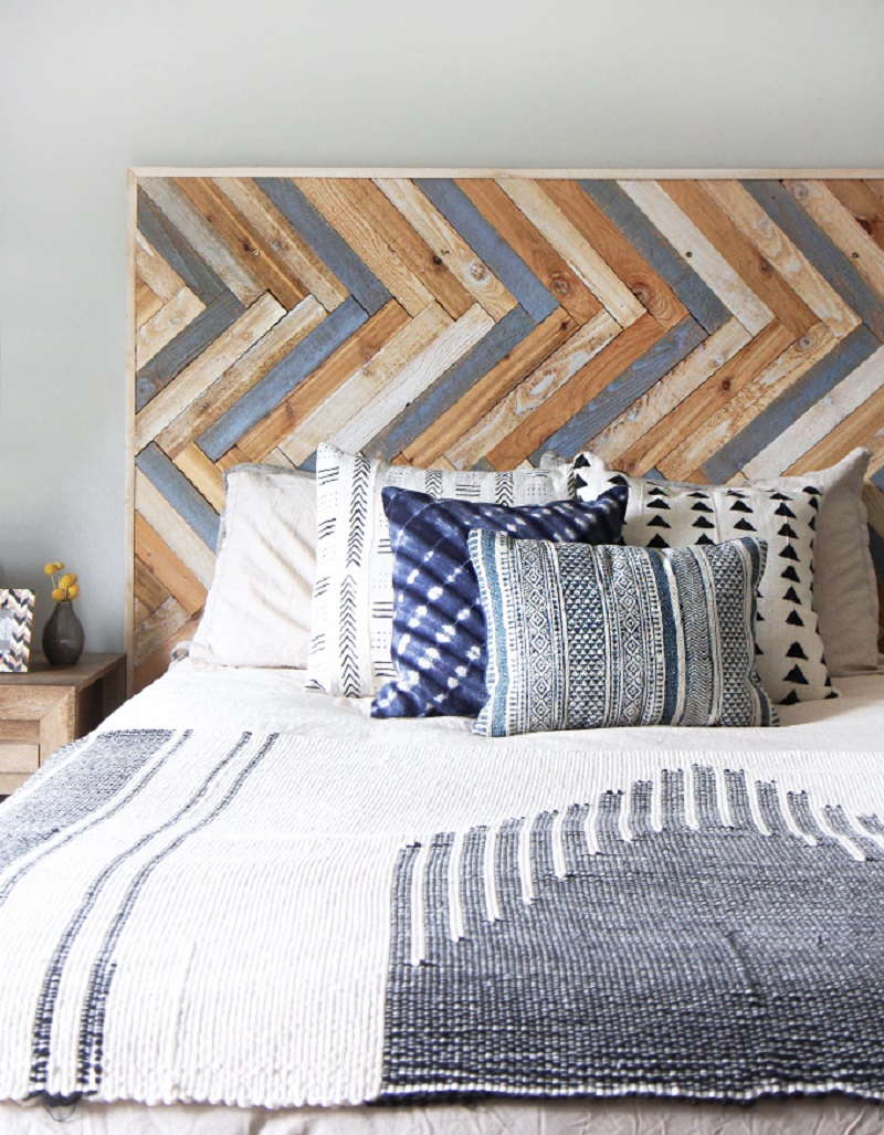 Diy Herringbone Wood Headboard