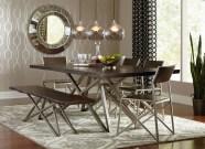 Metallic Wallpaper Dining Room
