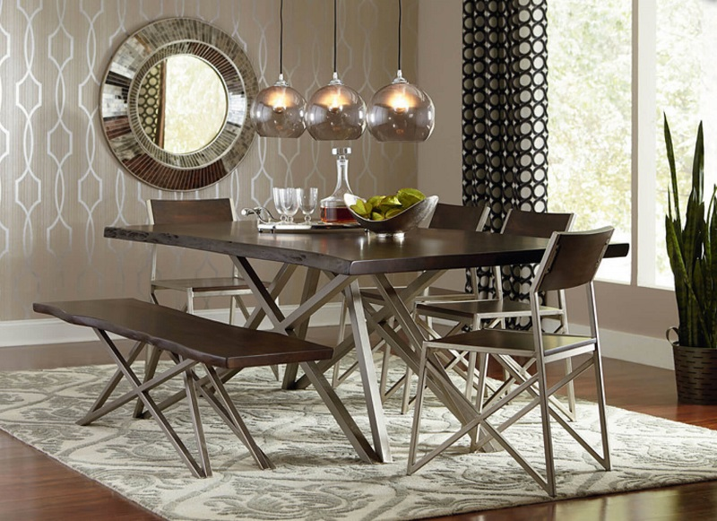 Metallic Wallpaper Dining Room