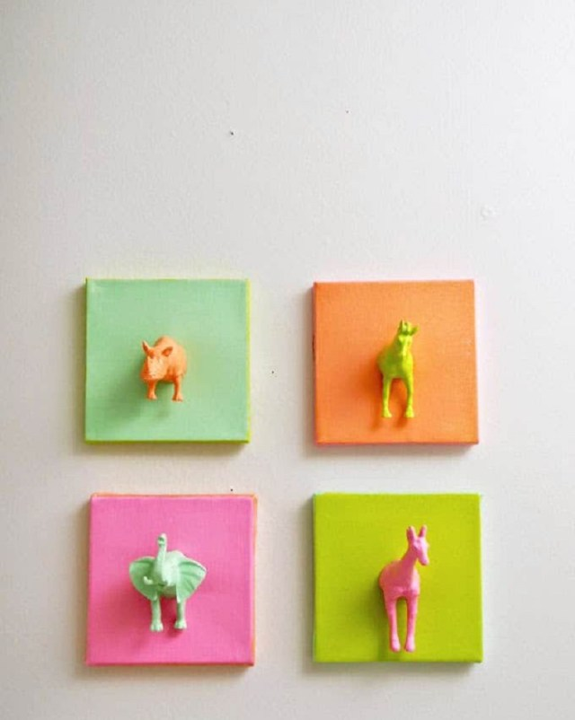 Mini Animal Canvases