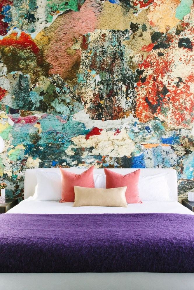 Bedroom Wall With Mural