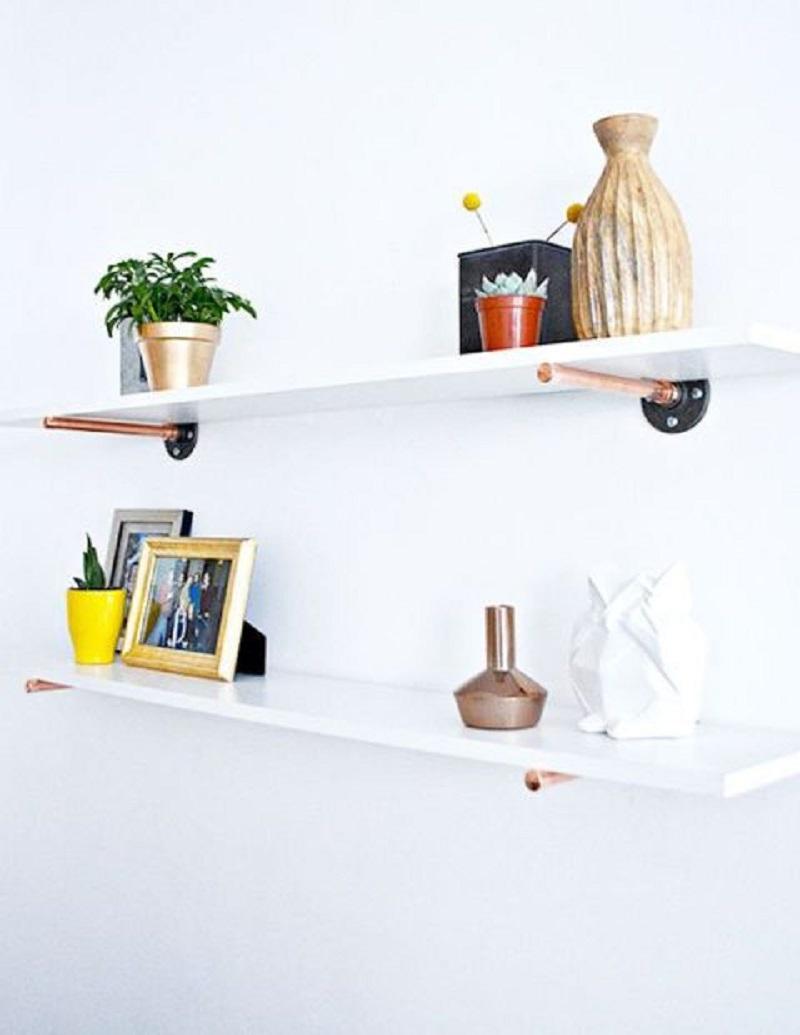 Copper Pipe Shelves