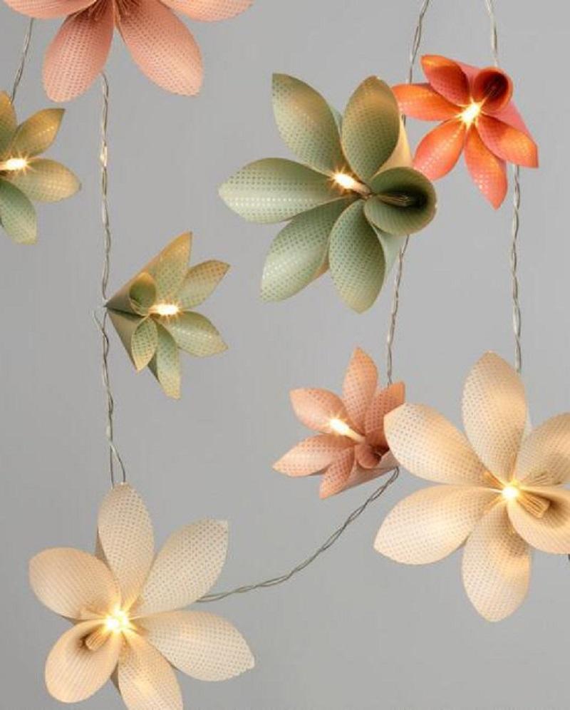 Paper Flower String Lights