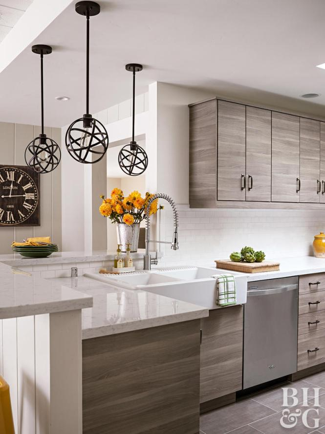White Kitchen Marble Counters