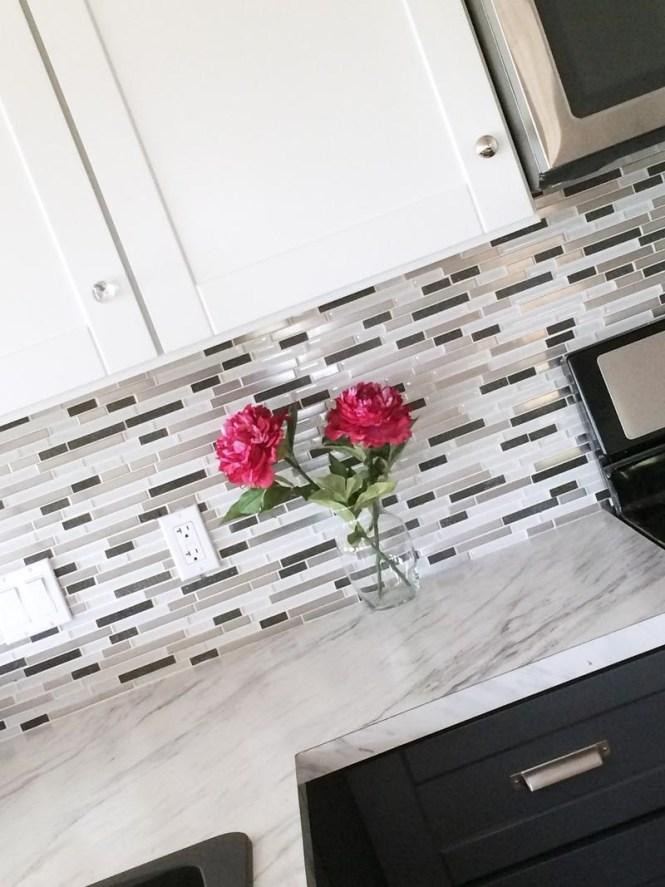 Mosaic Glass Tile Backsplash