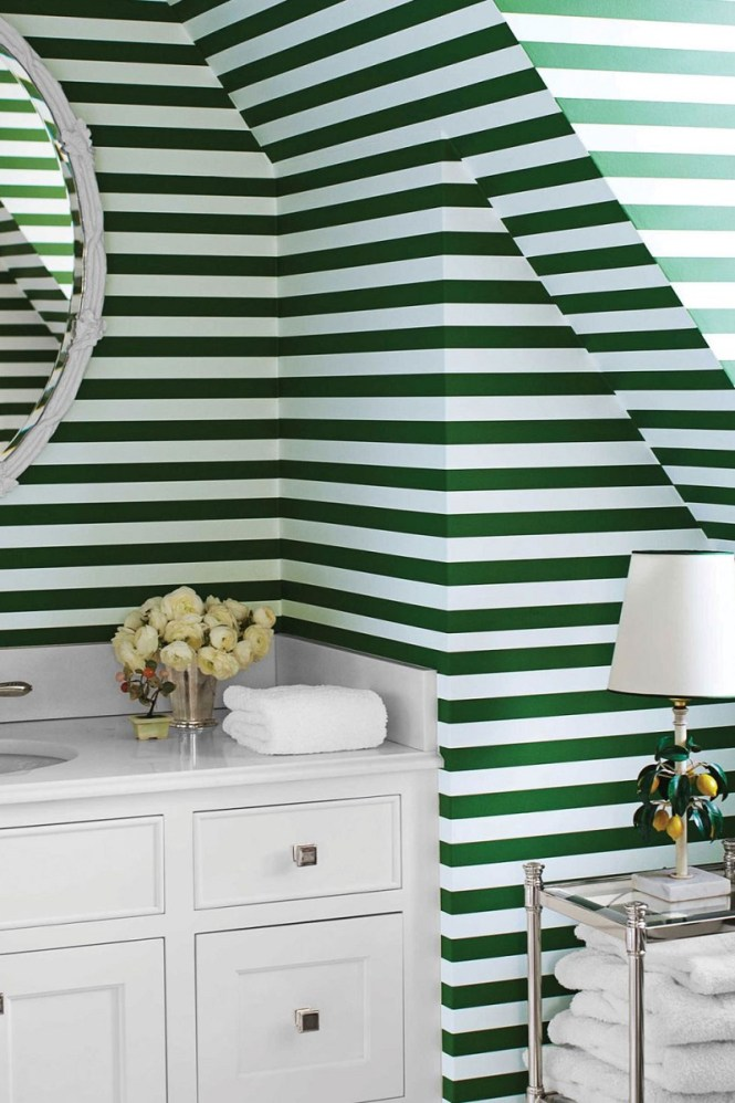 Tiny Bathroom With Green