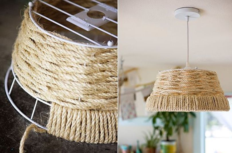 Woven Rope Pendant Lamp