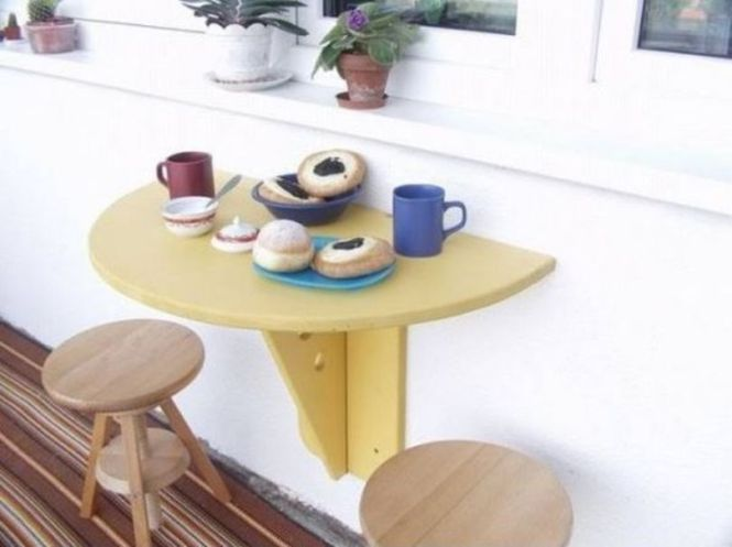 Foldable Balcony Table