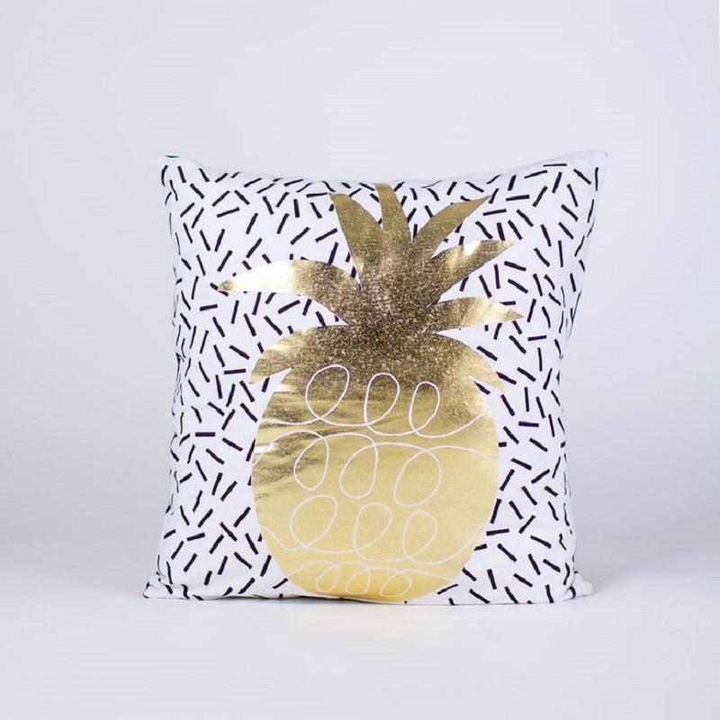 Gold Pineapple Pillow