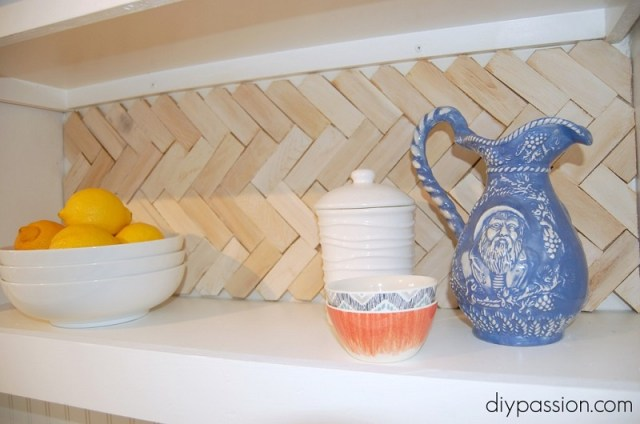 Herringbone Shim Backsplash