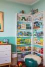 Kids Book Shelves At Corner