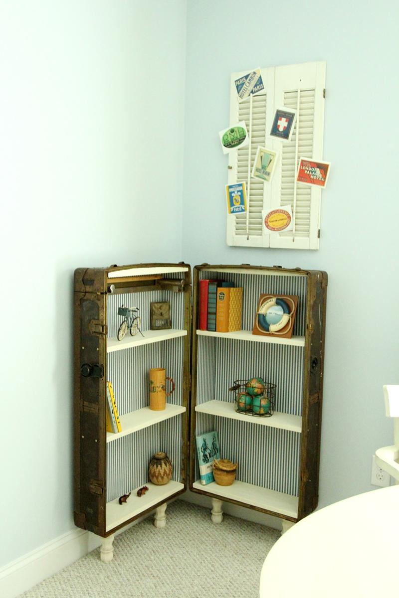 Antique Trunk Became A Bookshelf