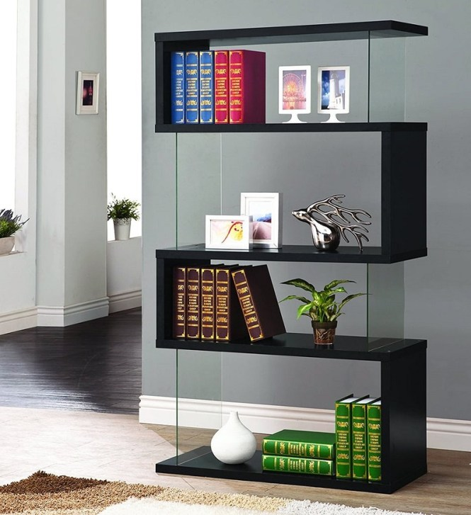 Asymmetrical Snaking Bookcase