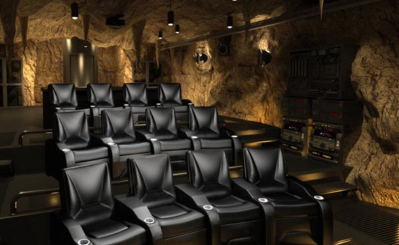 Batman Cave Inspired Home Theater