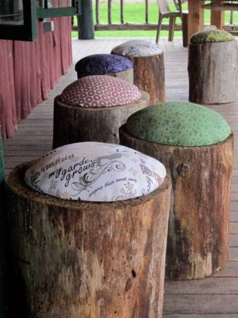 Big Wood Log Chair