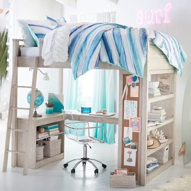 Blue Loft Bed
