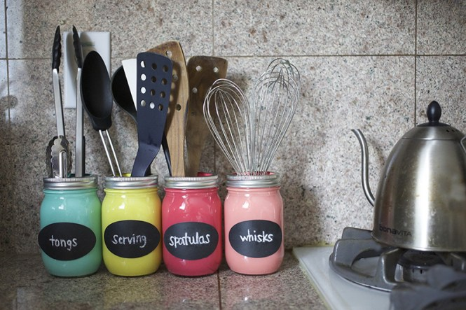 Colorful Mason Jars
