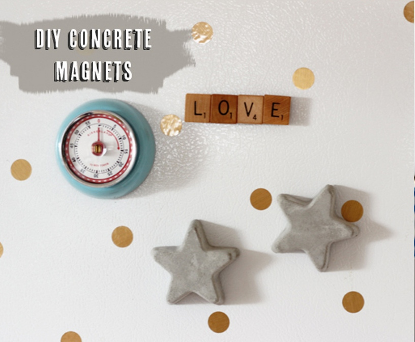DIY Concrete Magnets