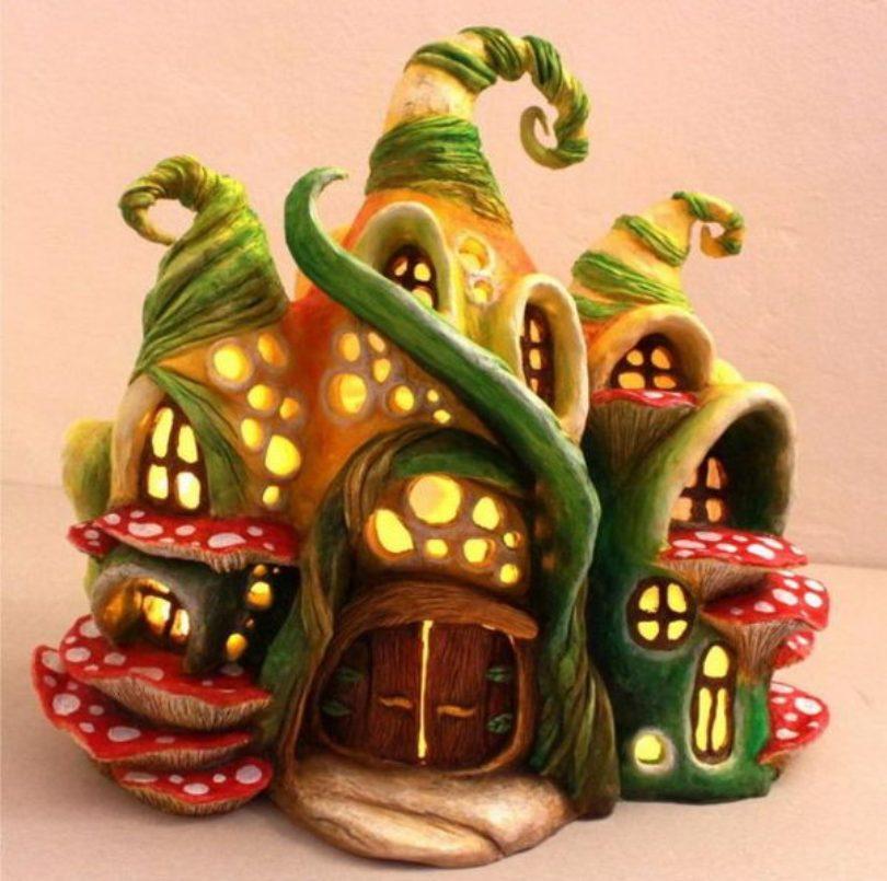 Enchanted Fairy House Lamp