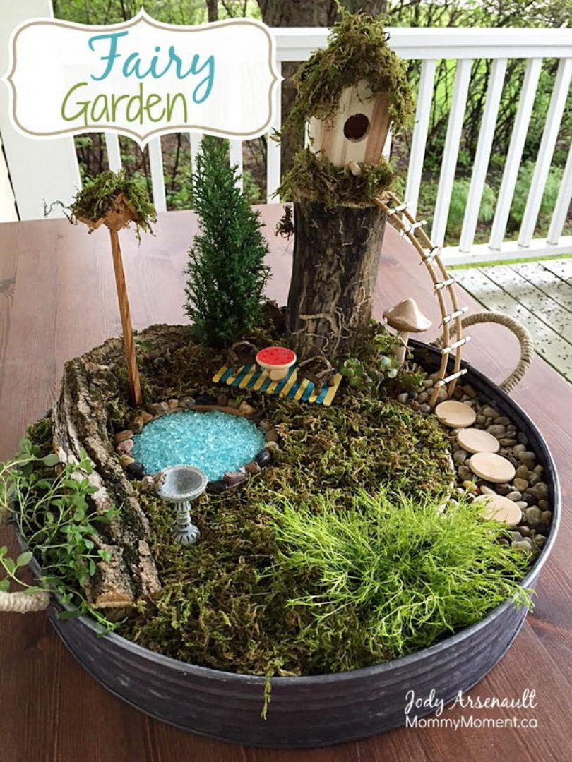 Fairy Garden With A Gorgeous Tree House