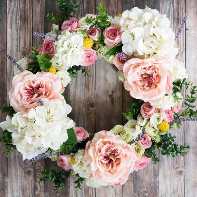 Faux Flower Wreath