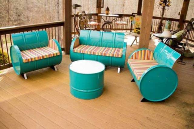 Gallon Steel Drum Seating