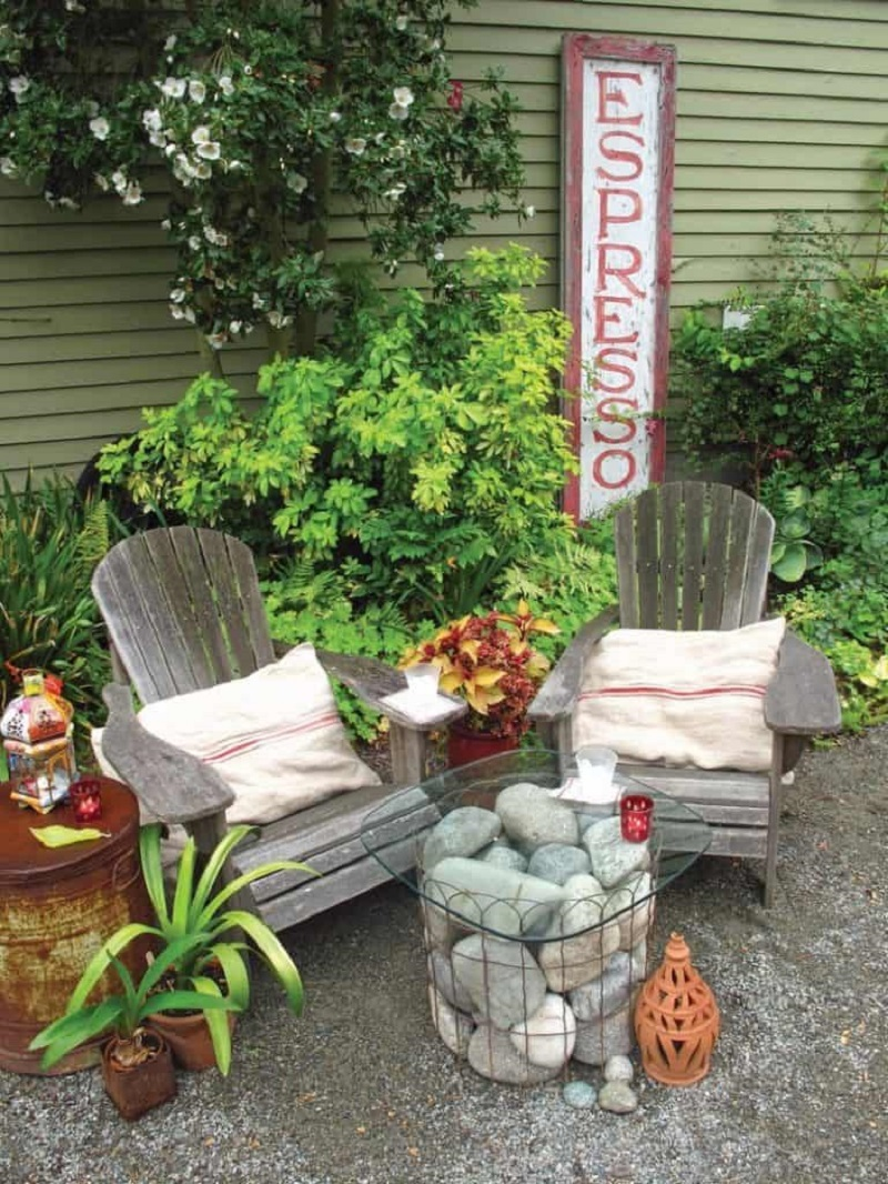 Garden With Old Chair