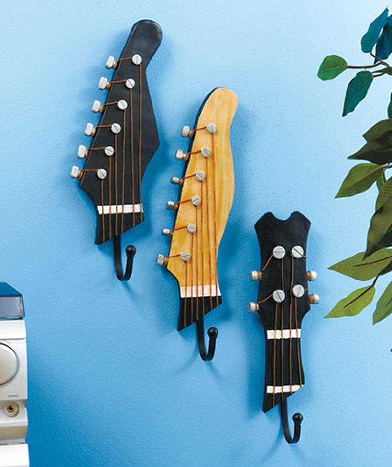 Guitar Heads Become Wall Hooks