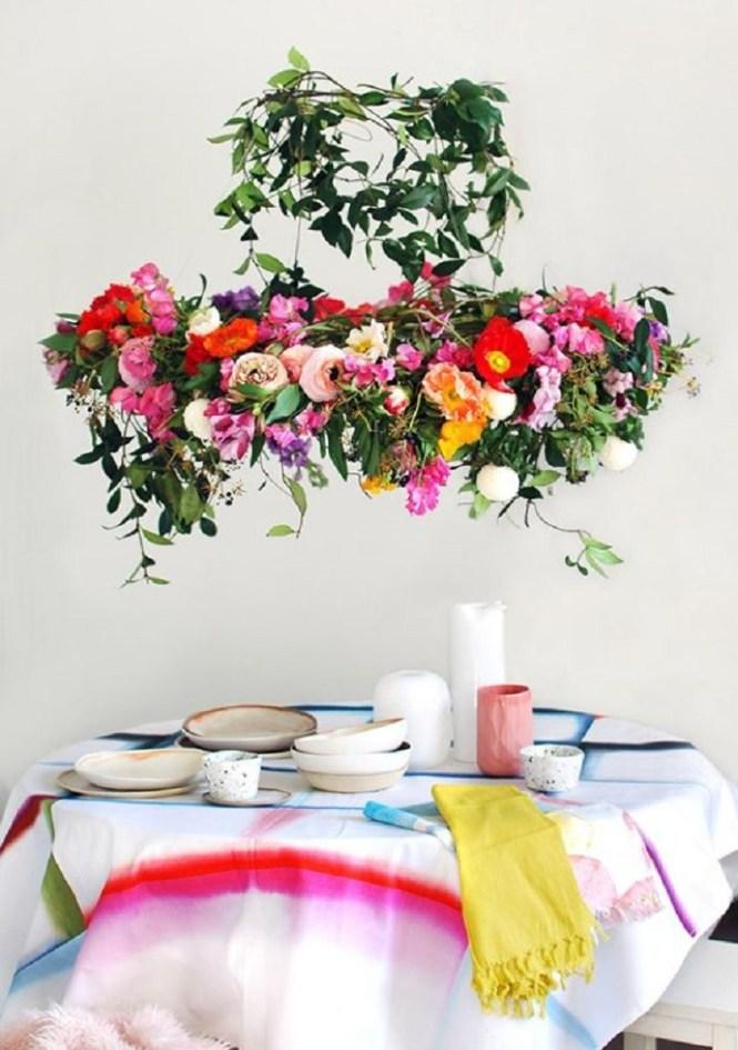 Hanging Flower Chandelier