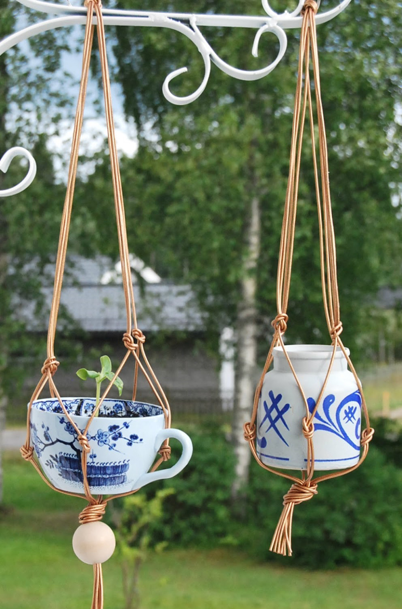 Hanging Teacup Planters