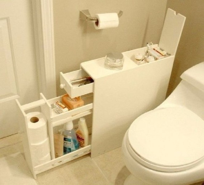 Hidden Bathroom Storage