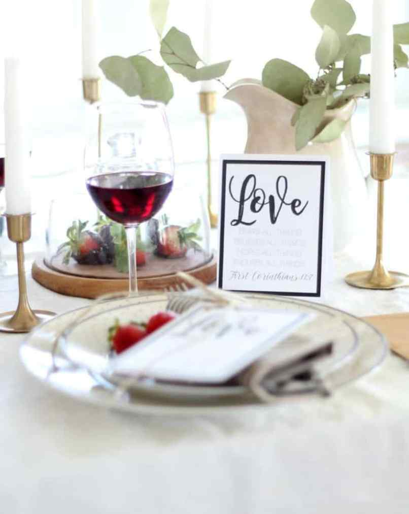 Love Note At Table