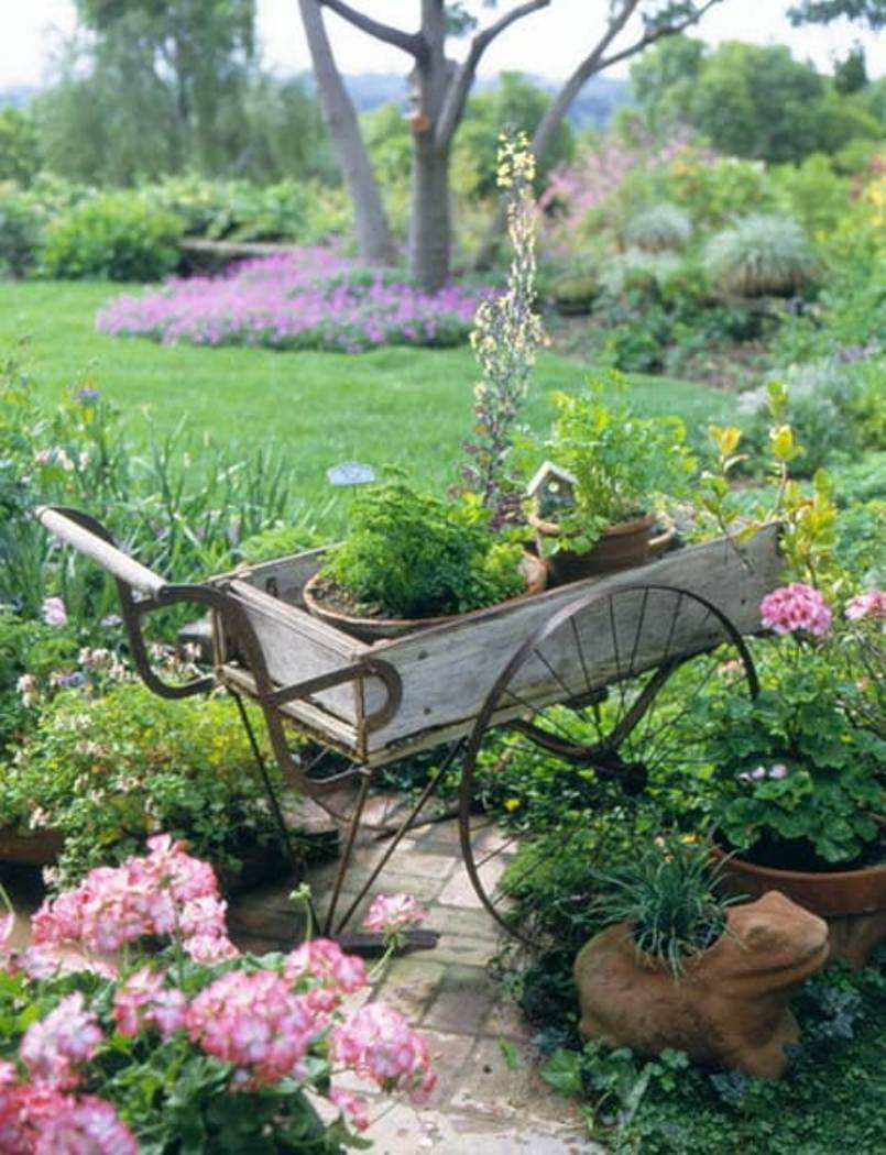 Old Cart As Planter