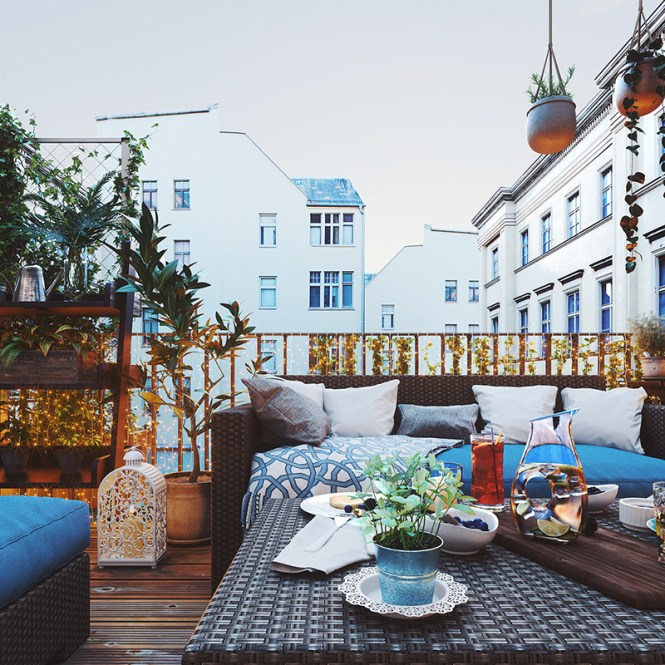 Romantic Bohemian Balcony