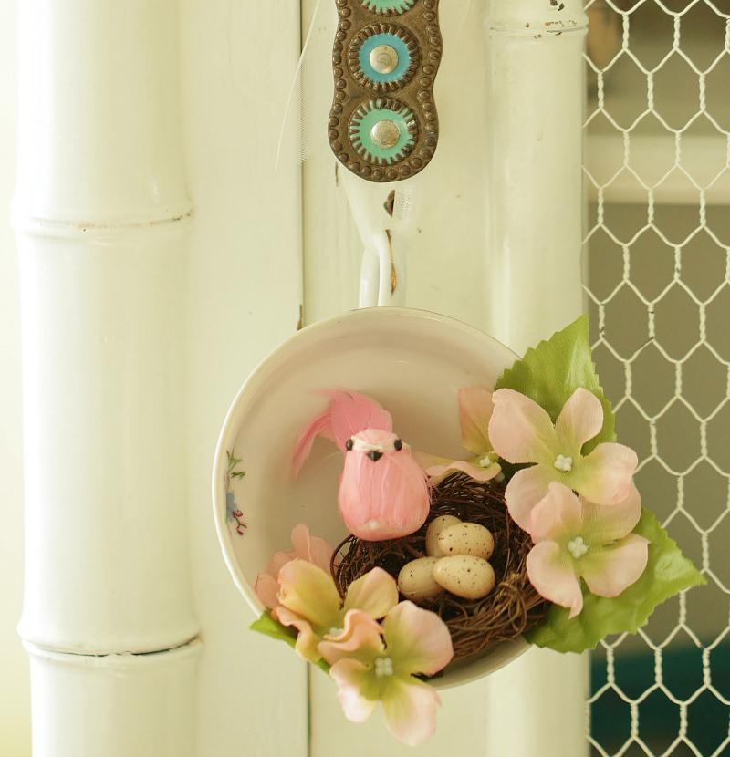Teacup For Spring Decoration