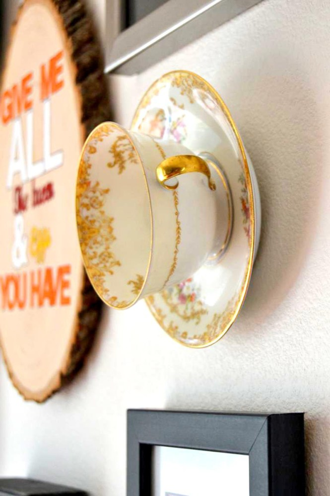 Unique Hanging Teacup Wall Art