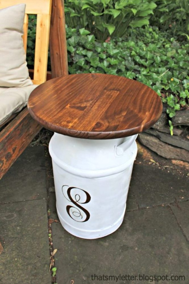 Vintage Milk Jug Side Tables