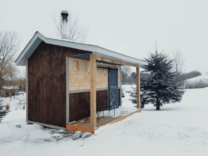 Wintertime Sauna DIY