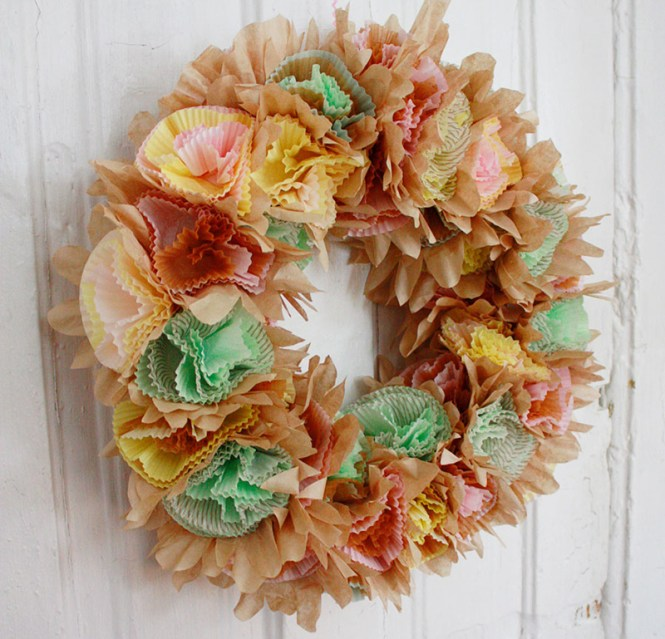 Wreath From Cupcake