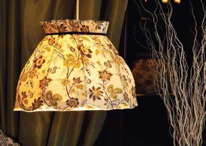 Cloth Hanging Lampshade