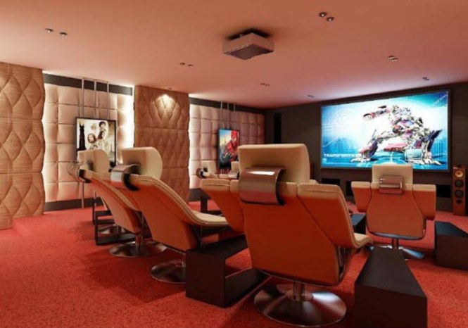 Modern Looking Home Theater