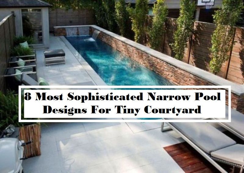 8 Most Sophisticated Narrow Pool Designs For Tiny Courtyard
