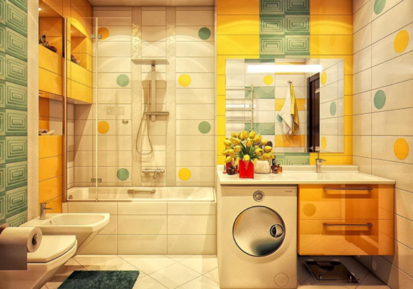 Bathroom Yellow Green